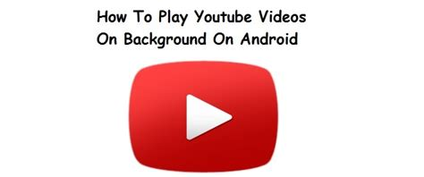 how to play in background android how to play on background on android
