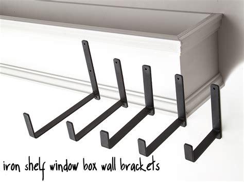 window box support brackets 9 quot shelf window box wall bracket pair support