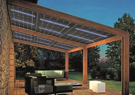 solar panel pergola glasswing 174 the pv module with led integrated