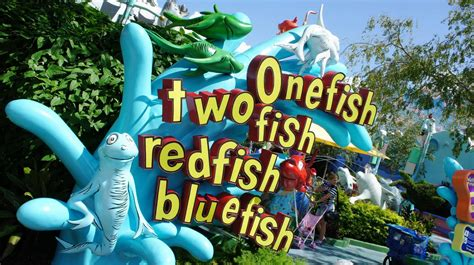 one fish two fish red fish blue fish at universal s