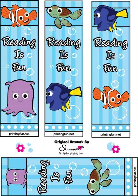 printable bookmarks reading nemo bookmarks keep on reading reading night