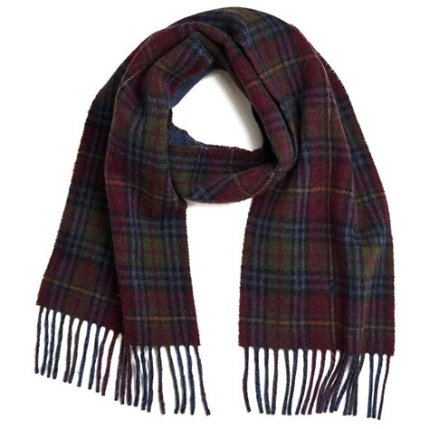 polo ralph s reversible scarf wine blue