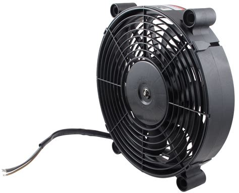 high output computer fan derale 12 quot high output electric single radiator fan