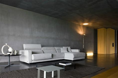 modern decor minimalist modern design of the building concrete wall forms that has warm lighting can be decor
