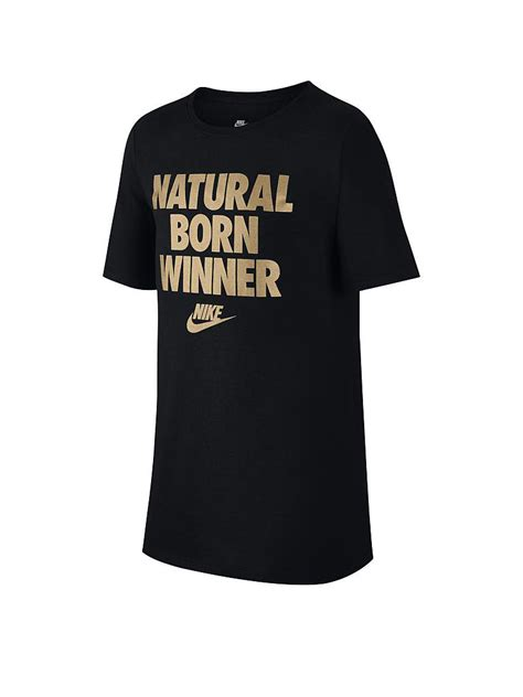 Tshirt Nike Born nike kinder t shirt born winner schwarz s