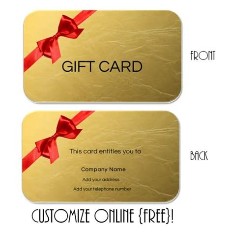 template for gift cards gift card template