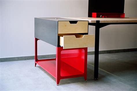designboom desk studio millim 232 tre releases acier noir furniture collection