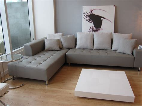 Grey Leather Sofa Living Room Modern With Custom Area Rug Contemporary Living Room Sofa