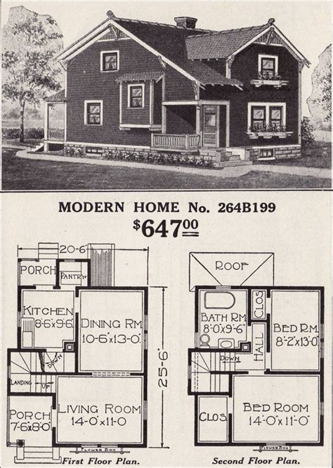 1916 sears modern home no 264b199 cross gable