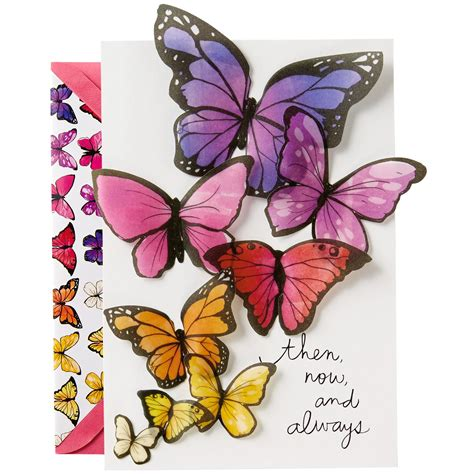 butterflies birthday card for greeting cards
