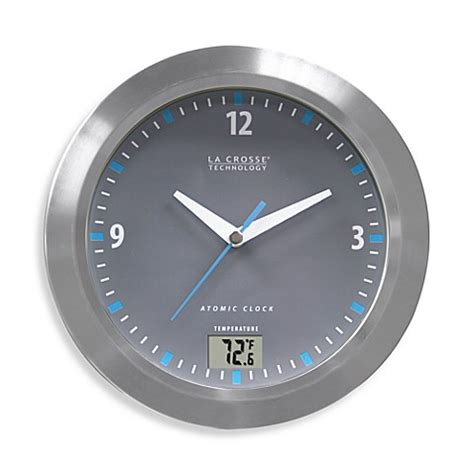 atomic bathroom clock la crosse technology water resistant atomic analog clock