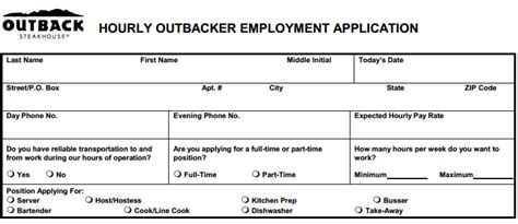 printable huddle house application job application form for a restaurant search results