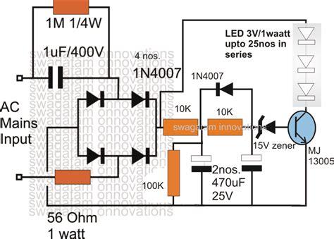 power led driver circuit diagram surge protected cheap transformerless hi watt led driver