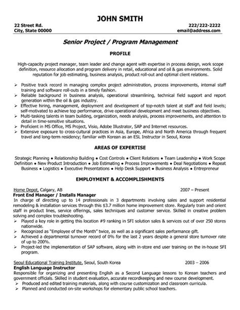Exle Cover Letter For A Resume by Front End Manager Resume Template Premium Resume Sles Exle
