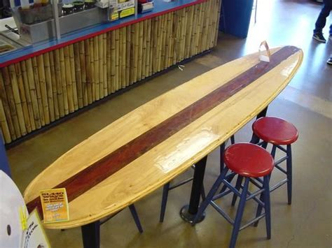 surfboard bar top surfboard bar home pinterest