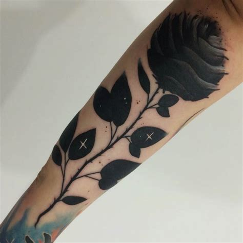 dark black rose tattoo 80 black tattoos and design with meanings