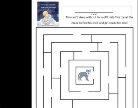 sleep tight little wolf little wolf maze san diego children s discovery museum