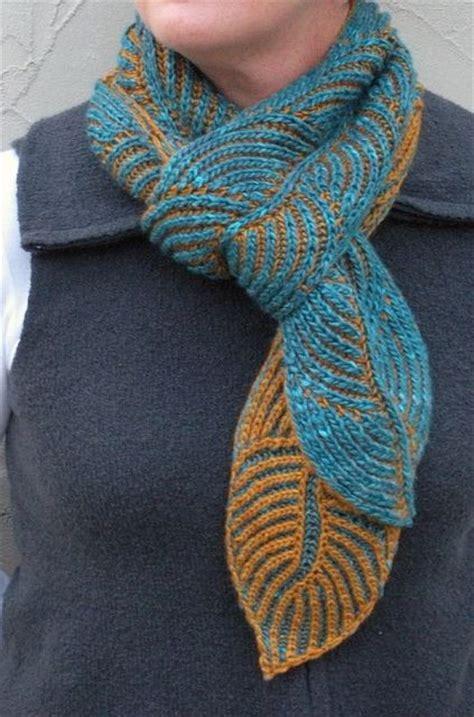 hosta brioche scarf pattern by nancy marchant knit