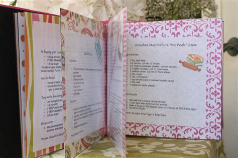 bridal shower recipe ideas bridal shower recipe book with recipes with all the guests bridal bridal