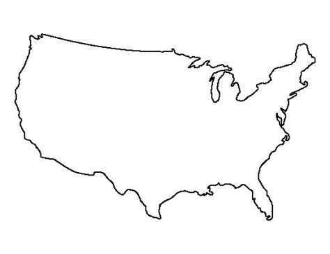 template of united states united states pattern use the printable outline for