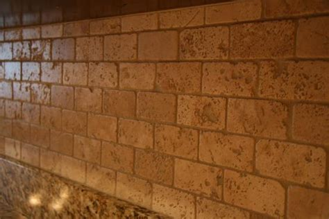 tumbled travertine backsplash ceramictec 2x4 tumbled chiaro travertine backsplash