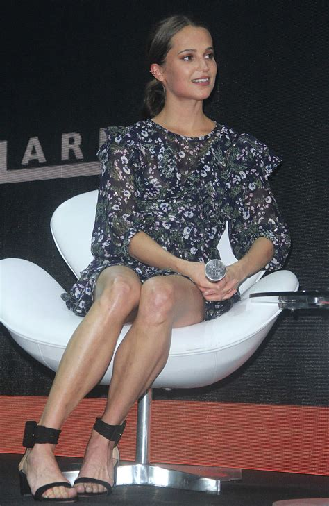 10 And At The Comic Con by Vikander At The Press Event During The