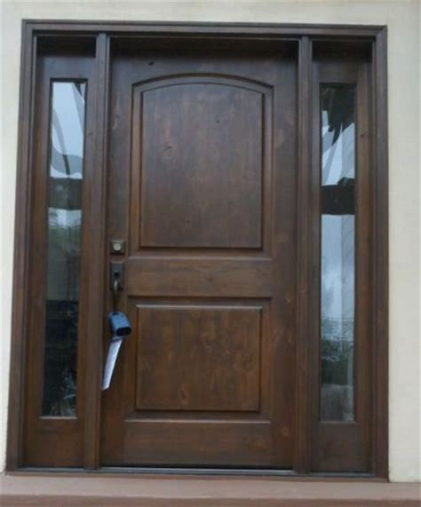 Knotty Alder Front Entry Doors With 2 Full Sidelights Pre Ebay Exterior Doors