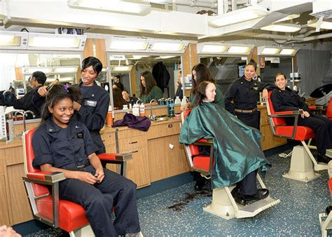 houston barbershops for womens hair women at sea open salon for sailors and marines aboard mki