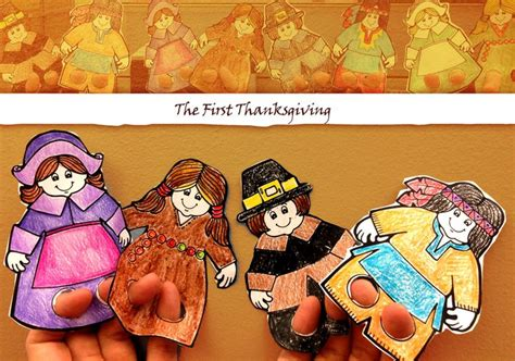Enhance Already Fun Activities About Thanksgiving With These Finger Puppets There Is A Native Thanksgiving Finger Puppet Templates