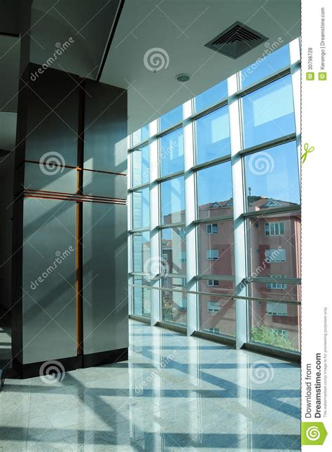 grid windows and stylized column royalty free stock photos