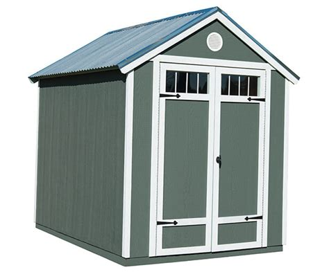 wood garden shed  metal roof  sale installed  site