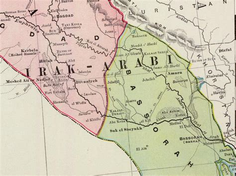 where is basra on a map file basra province 1897 png