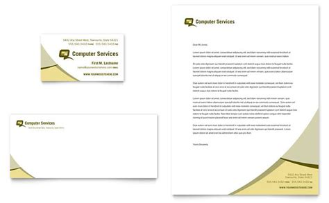 Computer Services Consulting Business Card Letterhead Template Design Computer Consulting Website Template