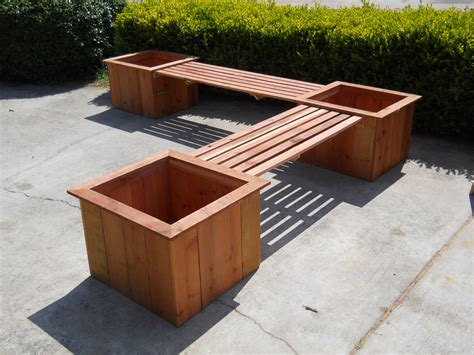 Planter Boxes With Bench custom planters bloomelle