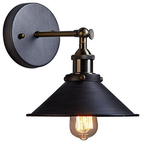 Edison Light Sconce by Edison Simplicity 1 Light Sconce Aged Steel Industrial