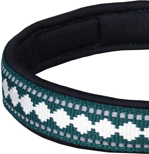 blue pattern dog collar blueberry pet 3m reflective pattern dog collar teal blue