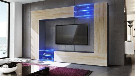 Wall Unit Living Room Furniture Set Mirage Black High Black High Gloss Living Room Furniture