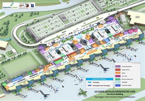 layout bandara sepinggan bpn sepinggan international airport balikpapan east