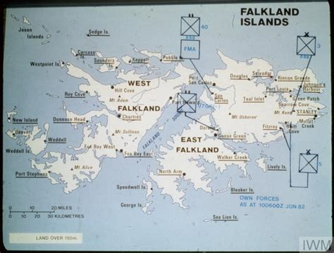 falkland islands on map map of the falkland islands photographs by