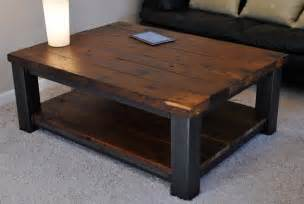 Coffee Table Design: Fascinating Modern Square Rustic Coffee Table Ideas For Living room Rustic
