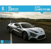 Fastest Cars In The World 2013 7 Zento STI  Top Speed 233 Mph/ 375
