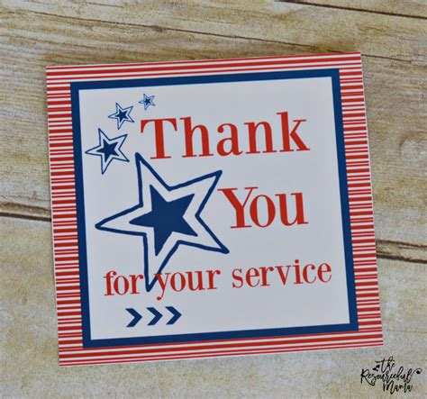 Care Packages For Soldiers Quot Thank You For Your Support by Care Package With Free Printable Card
