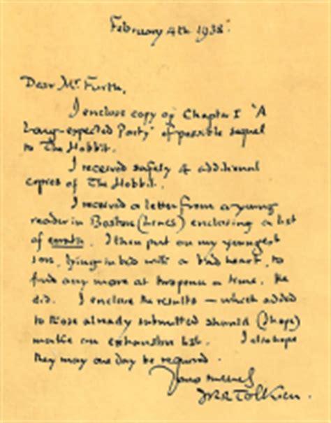 Letter Hobbit Letter 22 Tolkien Gateway