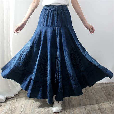 free shipping 2016 vintage maxi a line skirts