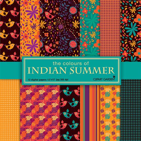 pattern paper sheets online india the colours of indian summer floral pattern digital papers