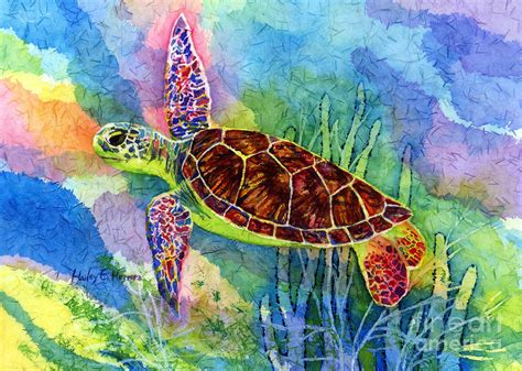 Home Decor Sewing Blogs sea turtle painting by hailey e herrera