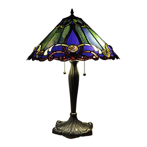 tiffany style ceiling fan glass shades shop chloe lighting victorian 26 in bronze tiffany style