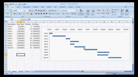 project management excel gantt chart template free and