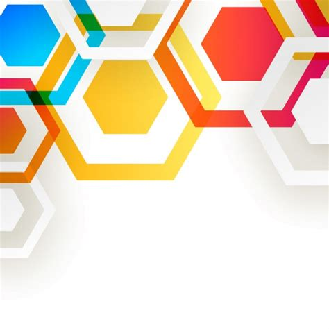 design image abstract background with hexagonal design elements vector