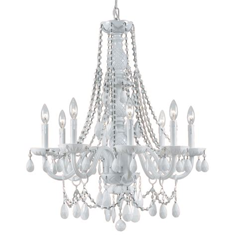 White Glass Chandelier Envogue White Chandelier By Crystorama Rosenberryrooms